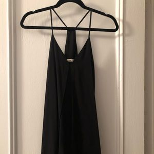 Alice + Olivia Black Fierra Mini Dress